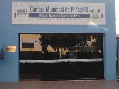 Fachada da Câmara Municipal de Pilões