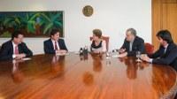 Governador se reúne com a presidente Dilma e apresenta os pleitos prioritários do RN.