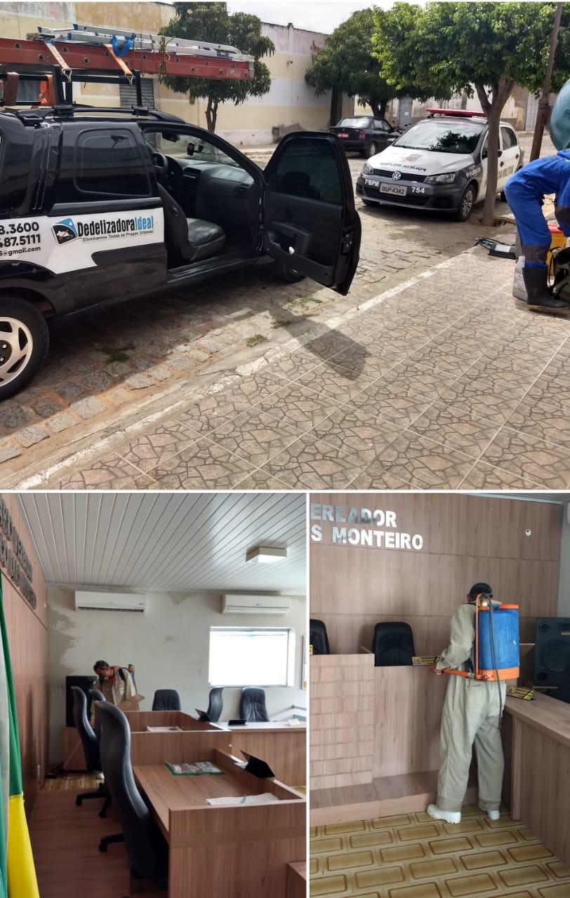 Serviço de Dedetização na Câmara Municipal de Pilões/RN.