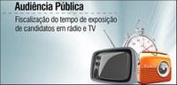 TSE realiza hoje Audiência Pública sobre tempo de candidatos no rádio e na TV.